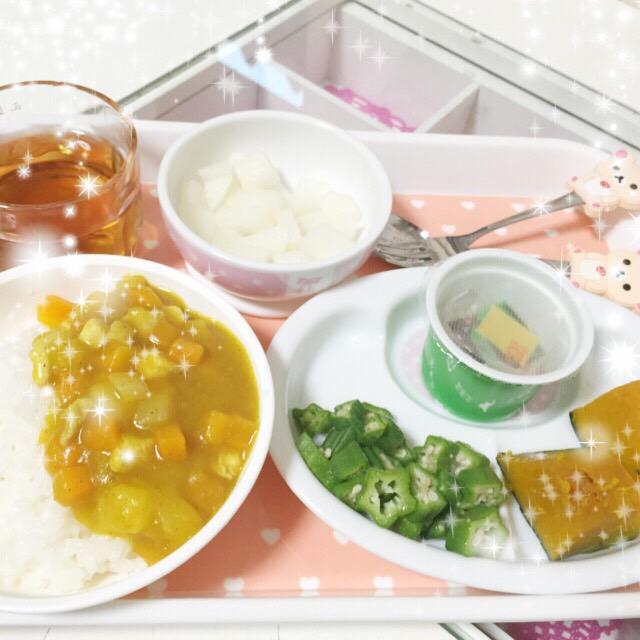 西松屋カレー&オクラ・カボチャの離乳食.jpeg